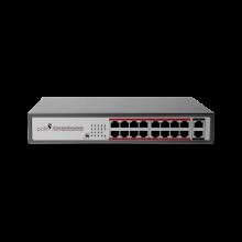 Pollo PO1116MGB 16 Port Fast Ethernet PoE Switch with 2 Uplinks Price